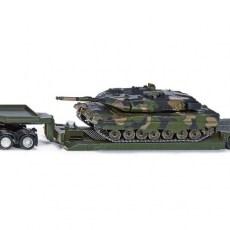 Dieplader met pantservoertuig