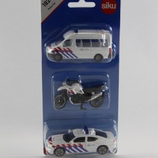 Politieset NL met busje, motor en auto