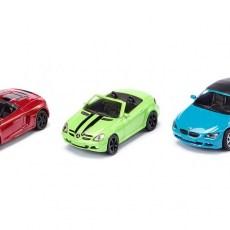 Set van 3 cabrio sportwagens