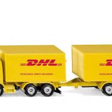 vrachtwagen met DHL-aanhanger
