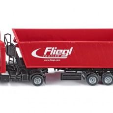 Fliegl vrachtwagen met kiepwagen en kantelbak