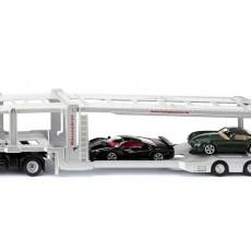 Autotransportwagen met twee autos