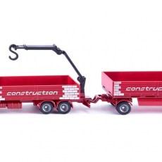 Bouwmaterialen vrachtwagen met aanhanger