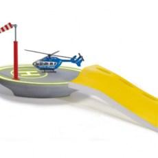 Helicopter landingsplaats met helicopter