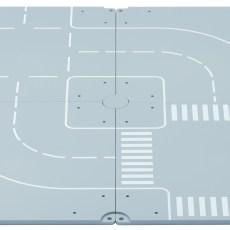 Grondplaten met 2 bochten en 2 kruisingen