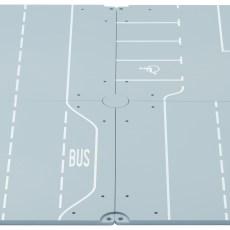 Grondplaten met wegen en parkeerplaatsen