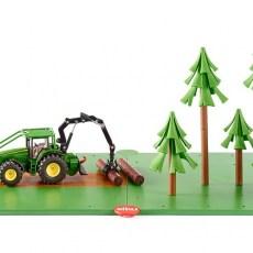 Siku bosbouwset grondplaten met bomen en tractor
