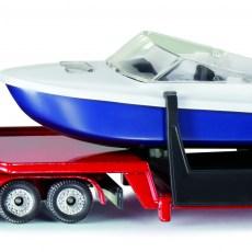 Dieplader met boot