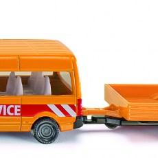 Transporter met rijdende afzetting