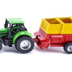 Deutz-Fahr tractor met Pottinger laadwagen