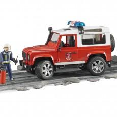 Land Rover Brandweerauto met brandweerman
