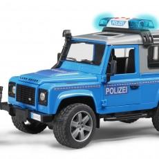 Land Rover Politieauto met politieagent