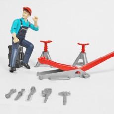 Tractormonteur en gereedschap