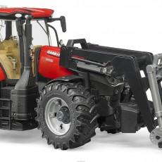 Case IH Optum 300 CVX tractor met voorlader