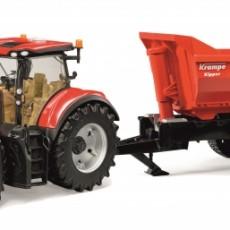 Case IH Optum tractor met Krampe kipper