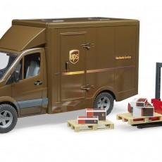 MB UPS transporter met bezorger