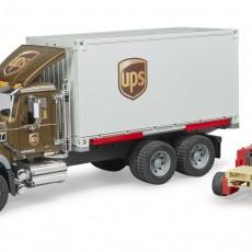 MACK Granite UPS Truck met vorkheftruck