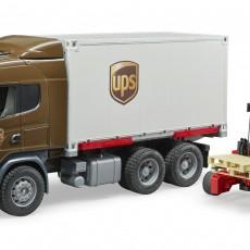 Scania R-serie UPS vrachtwagen met heftruck