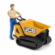 JCB minidumper met bouwvakker