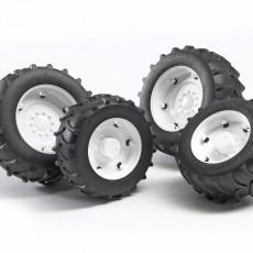 Vier witte tractorbanden 2000 serie