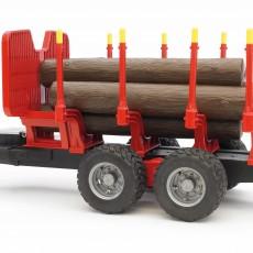 Oplegger voor houttransport