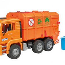 MAN TGA vuilniswagen oranje
