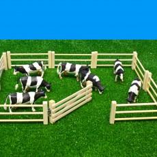 6-delig houten hek voor weide