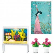 Aquarium en bloempotten