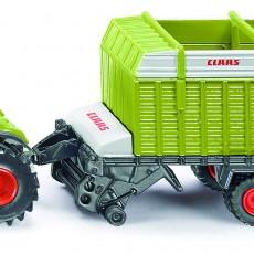 Claas Axion tractor met laadwagen