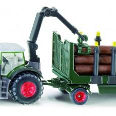 Fendt 939 tractor met houttrailer