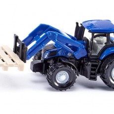 New Holland tractor met palletvork