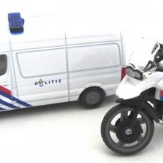 Politieset NL met busje en motor