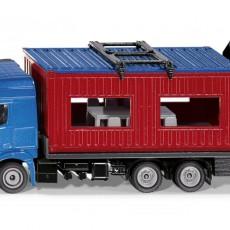 Mercedes-Benz vrachtwagen met bouwcontainer