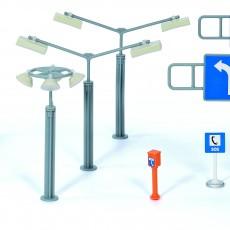 Siku straatverlichting en verkeersborden
