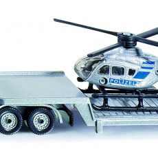 Dieplader met helicopter