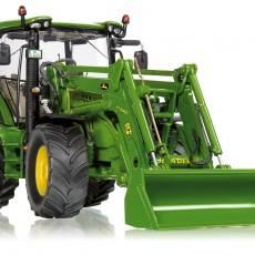 John Deere 6125R tractor met voorlader