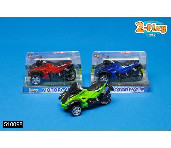 Blauwe motorfiets