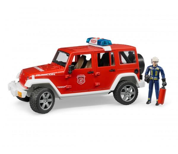 Jeep brandweerauto met brandweerman