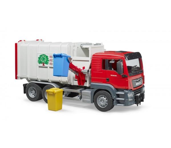 MAN TGS vuilniswagen met zijlader