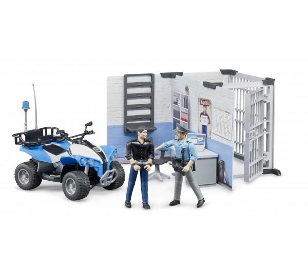 Politiebureau met quad en speelfiguren