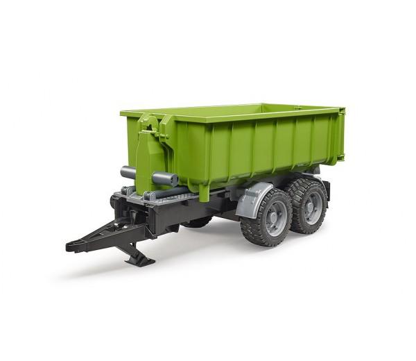 Haakarm aanhanger met container voor tractoren