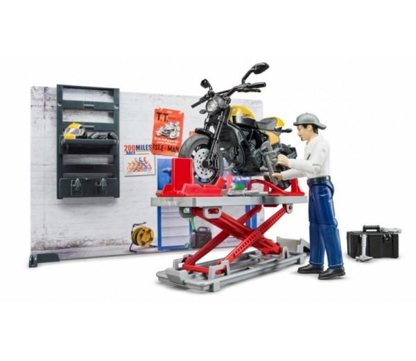 Werkplaats voor motoren met Ducati Scrambler