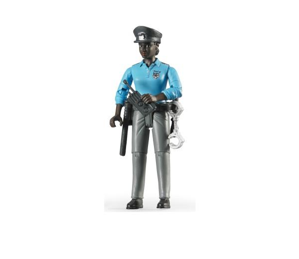 Agente met politieuitrusting