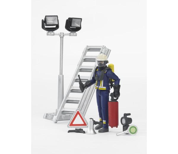Brandweerman met accessoires
