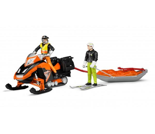 Sneeuwscooter met Akia reddingsslee