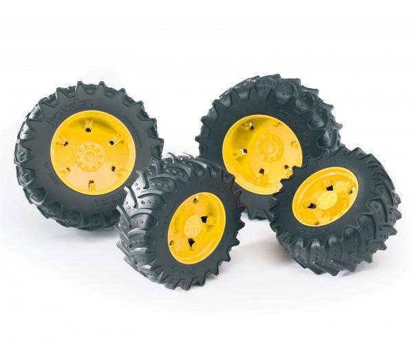 Vier gele tractorbanden 3000 serie