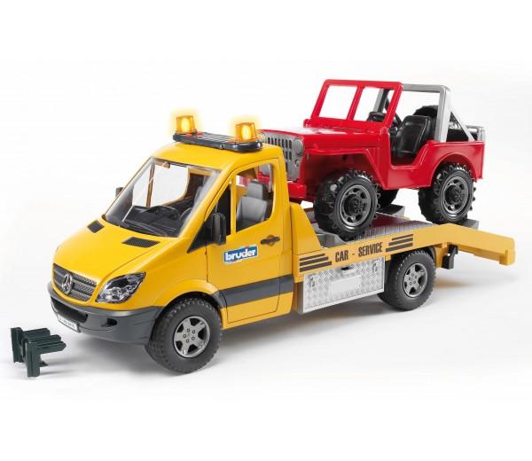 Mercedes-Benz oprijwagen met Jeep