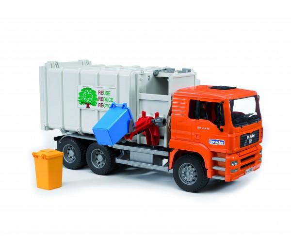 MAN vuilniswagen met zijlader