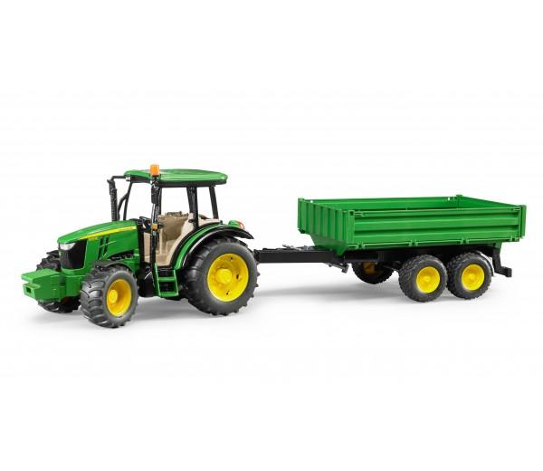 John Deere 5115 M tractor met kipper