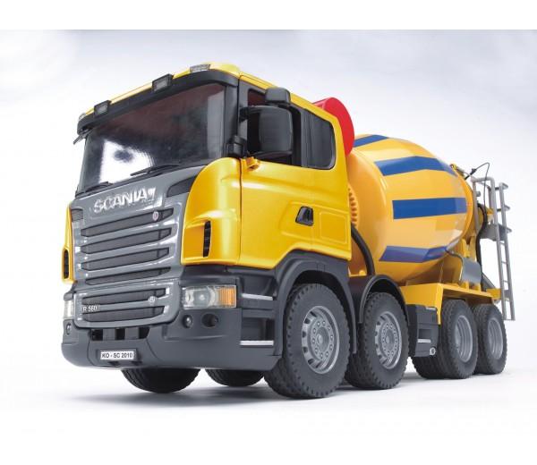 Scania R-serie vrachtwagen met betonmixer